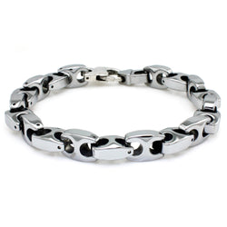Tungsten Carbide High Polish Marina Link Bracelet - Tioneer