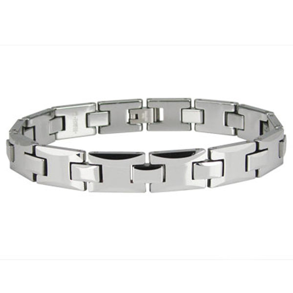 Tungsten Carbide Faceted Link Bracelet - Tioneer