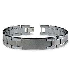 Tungsten Carbide Two-Tone ID Link Bracelet - Tioneer