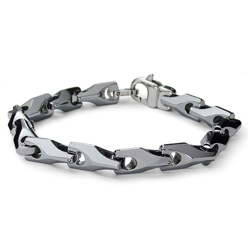 Tungsten Carbide Horseshoe Style Link Bracelet - Tioneer