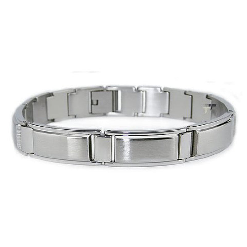 Stainless Steel Glossy Brushed Finish Link Bracelet - Tioneer