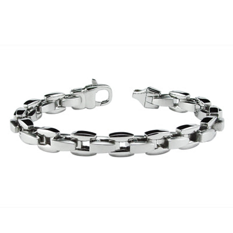 Stainless Steel Square Belcher Chain Link Bracelet - Tioneer