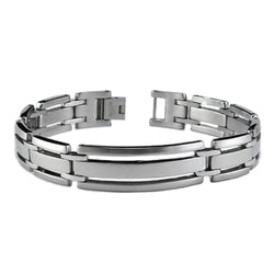 Stainless Steel Open Cut-Out Link Bracelet - Tioneer
