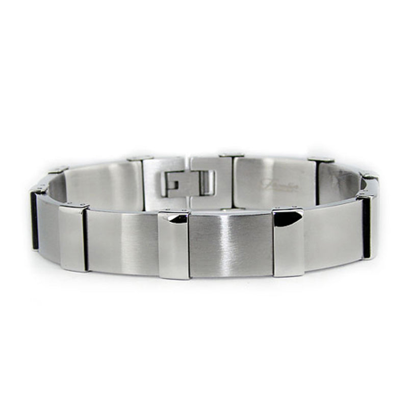 Stainless Steel Step-Down Accent Link Bracelet - Tioneer