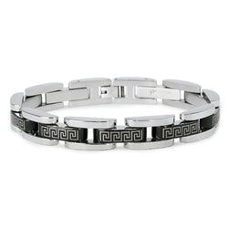 Stainless Steel Greek Pattern Style Bracelet - Tioneer