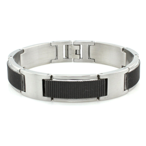 Two-Tone Stainless Steel Gladiator Link Bracelet - Tioneer