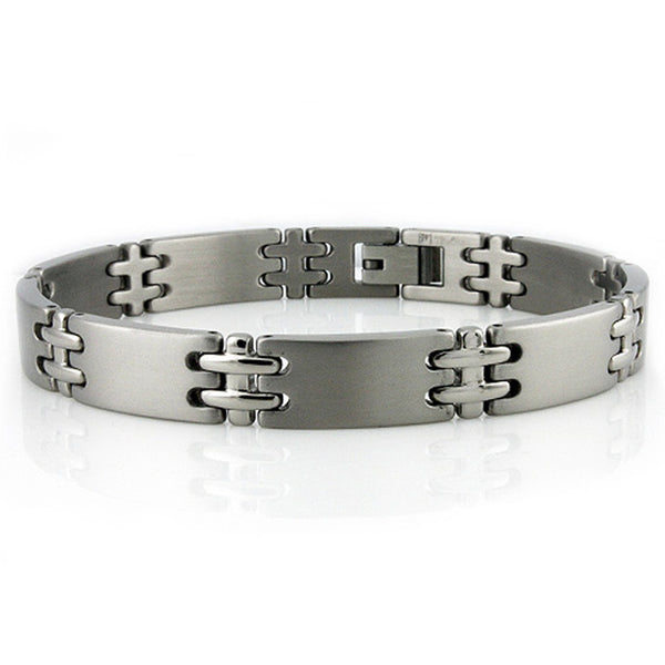 Stainless Steel Double Cross Connector Link Bracelet - Tioneer