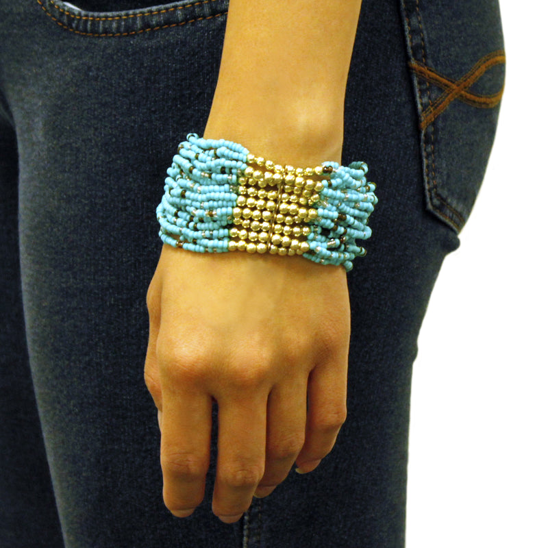 Multi-Strand Layering Exotic Stretchable Bracelet - Tioneer