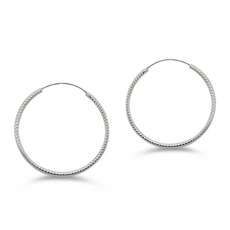Sterling Silver Classic Hoop Earrings - Tioneer