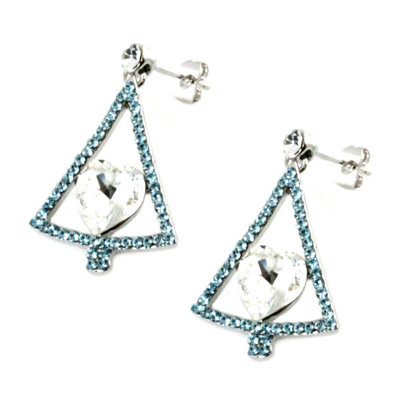 Swarovski Elements Evergreen Christmas Charm Earrings - Tioneer