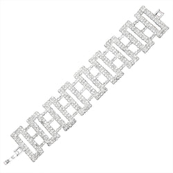 Fashion Rectangular Design Crystal Bracelet - Tioneer