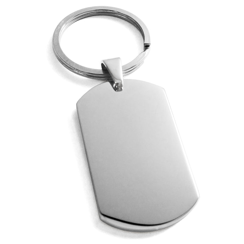 Stainless Steel Engravable Dog Tag Keychain Keyring - Tioneer