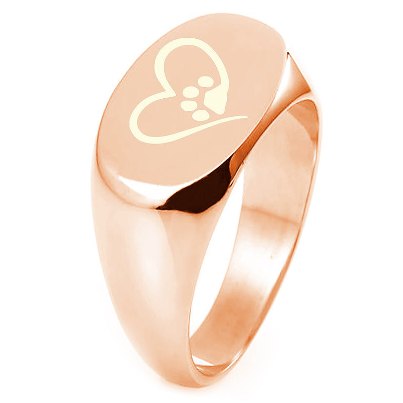 Sterling Silver Dog Paw Heart Engraved Oval Flat Top Polished Ring - Tioneer