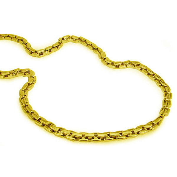 Gold Plated Stainless Steel Open Chain Link Necklace - Tioneer