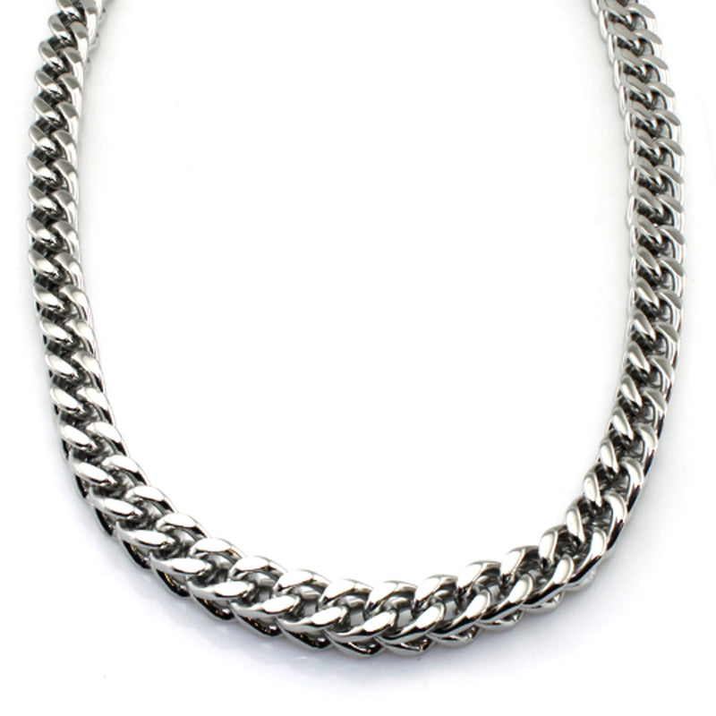 Stainless Steel 9 MM Wheat Box Link Chain Necklace - Tioneer