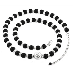 Fashion Crystal Bead Simulated Pearl Strand Necklace - Tioneer
