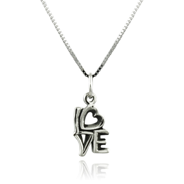 Sterling Silver Iconic Love Charm Pendant Necklace - Tioneer