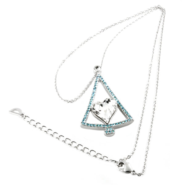 Swarovski Elements Evergreen Christmas Charm Necklace - Tioneer