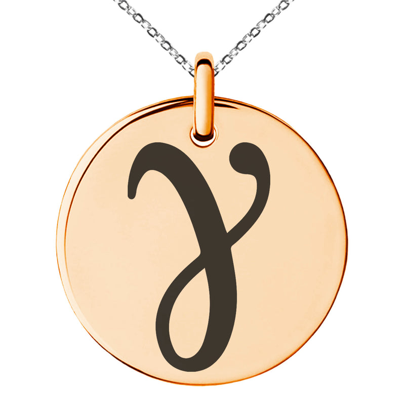 Stainless Steel Euler-Mascheroni Mathematical Engraved Small Medallion Circle Charm Pendant Necklace