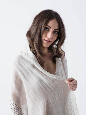 MALIBU-Linen Scarf/Cover up