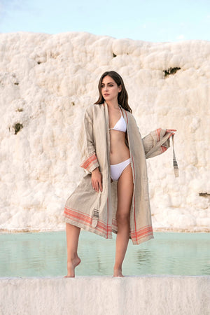 PALM-Spa/Pool/Beach Bathrobe