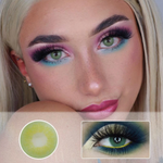 preview of green color lenses ttdeye queen green