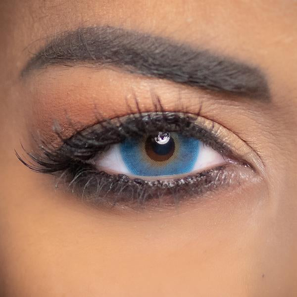 Blue Contact Lenses Obsession Paris Perfection Marine - 3 Months Use