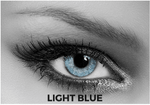 Blue Multifocal Contact Lenses Soleko Queen's Solitaire Light Blue