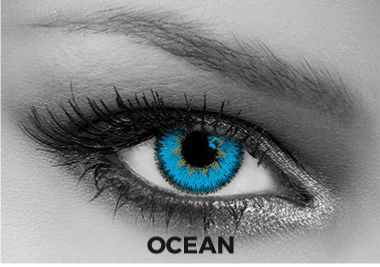 Blue Contact Lenses Soleko - Queen's Trilogy Ocean 1 Month