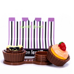 brown case holder cupcake for color lenses