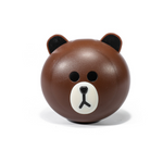 Brown kit contact lenses case holder BEAR