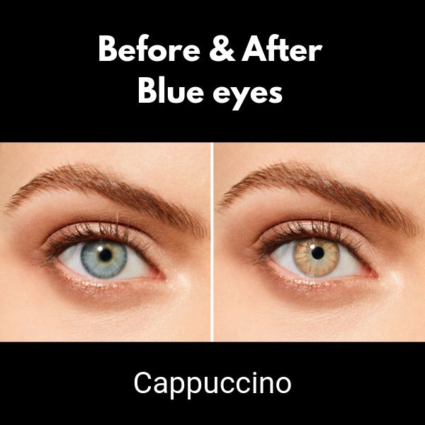 Brown Contact Lenses Desio Coffee Collection Cappuccino - 3 Months