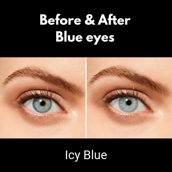 color lenses sensual beauty icy blue