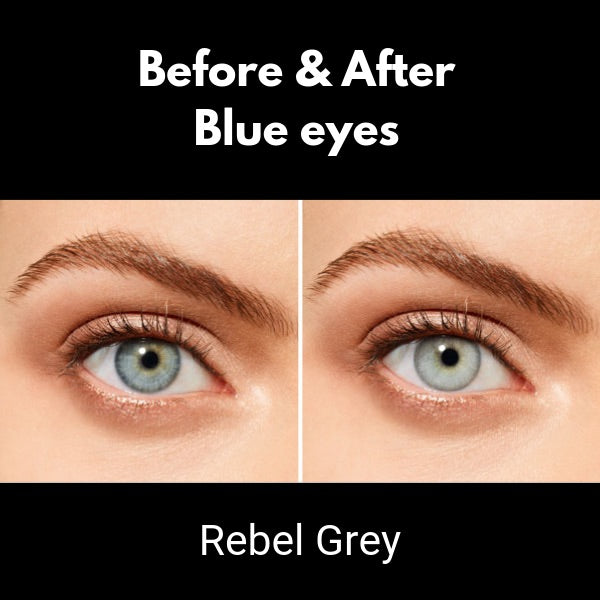 preview of lenses desio attitude rebel grey on blue eyes