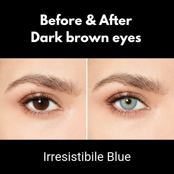 preview desio attitude irresistibile blue lenses on dark brown eyes