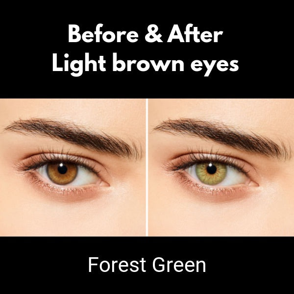contact lenses desio sensual beauty forest green on brown eyes