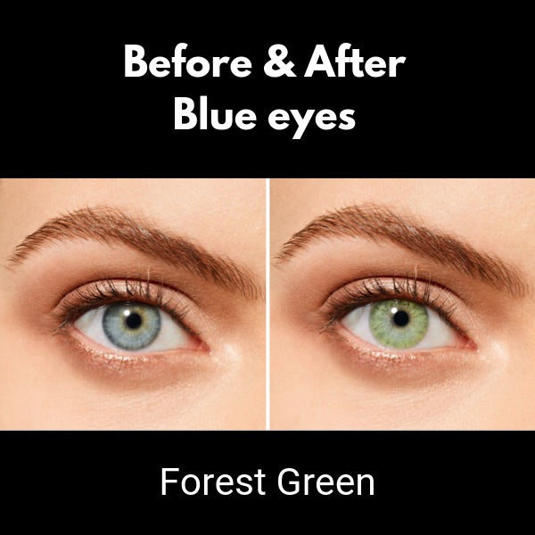 green contact lenses desio sensual beauty forest green on blue eyes