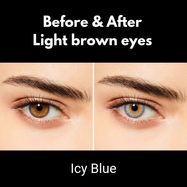 contact lenses sensual beauty icy blue