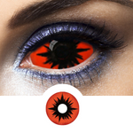 Orange and Black Contacts Omega Red - Crazy Lenses 1 Year