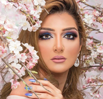 Lovely look with Gray Contact Lenses Dahab Cat Eye 6 months