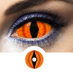Orange Contacts Sclera Shadowcat - Crazy Lenses 1 Year