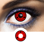 Red and Black Crazy Lenses Sharingan SH-L3 - 1 Year Use from Naruto manga