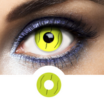 yellow contact lenses worms halloween