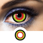 Scary face with Hannibal Contact Lenses Green, Red and Black