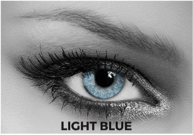 Blue Multifocal Toric Lenses Soleko Queen's Solitaire Light Blue