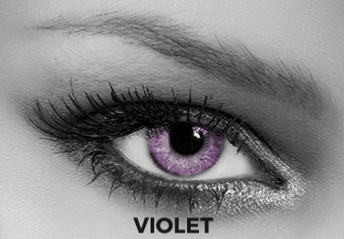Violet Toric Contact Lenses Soleko Queen's Solitaire Violet - 3 Months Use