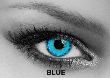 Blue Contact Lenses Soleko - Queen's Trilogy Blue 1 Month