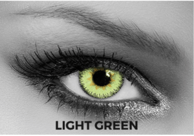 Green Contact Lenses Soleko - Queen's Trilogy Light Green 1 Month