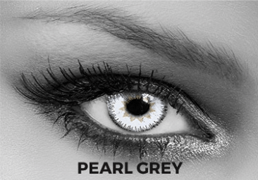 Gray Contact Lenses Soleko - Queen's Trilogy Pearl Gray 1 Month