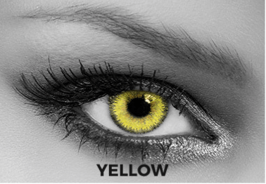 Yellow Contact Lenses Soleko - Queen's Trilogy Yellow 1 Month